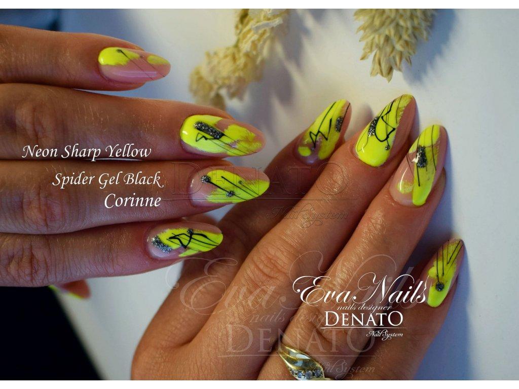 2150 Neon Sharp Yellow barevný uv led gel neonová žlutá