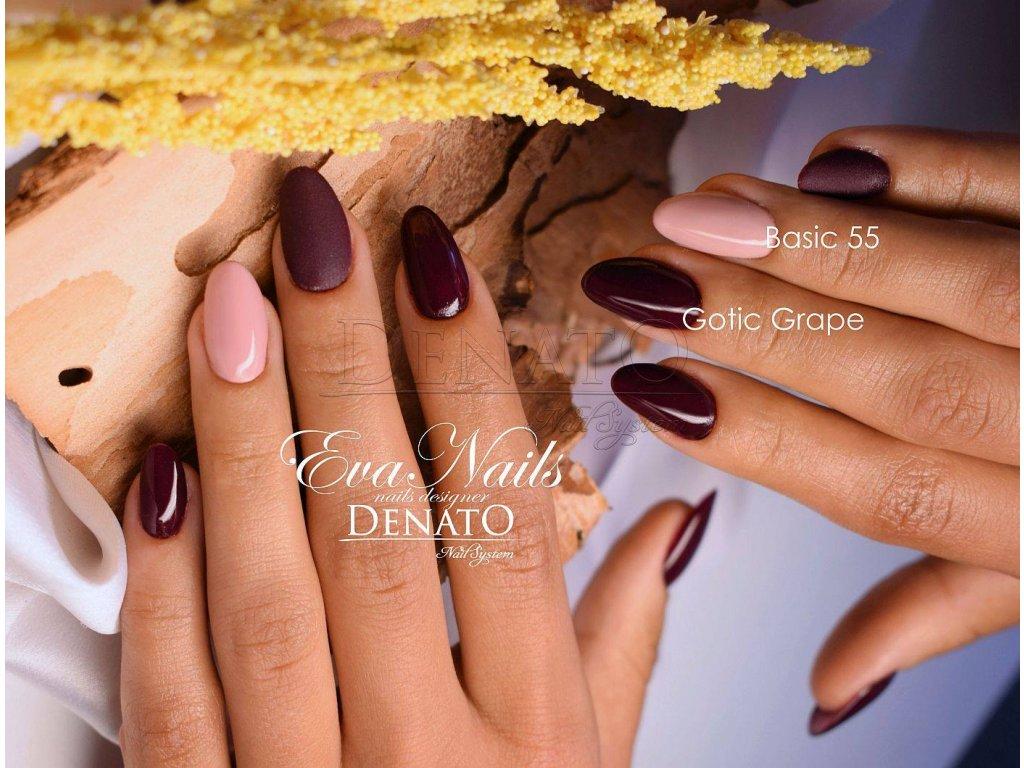 2072 Gotic Grape barevný uv led gel červeno vínový
