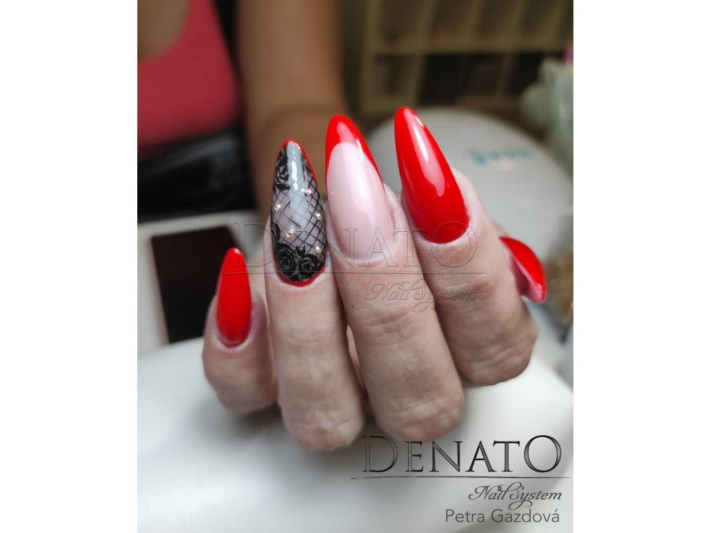 2075 Ferarri Red barevný uv led gel červený