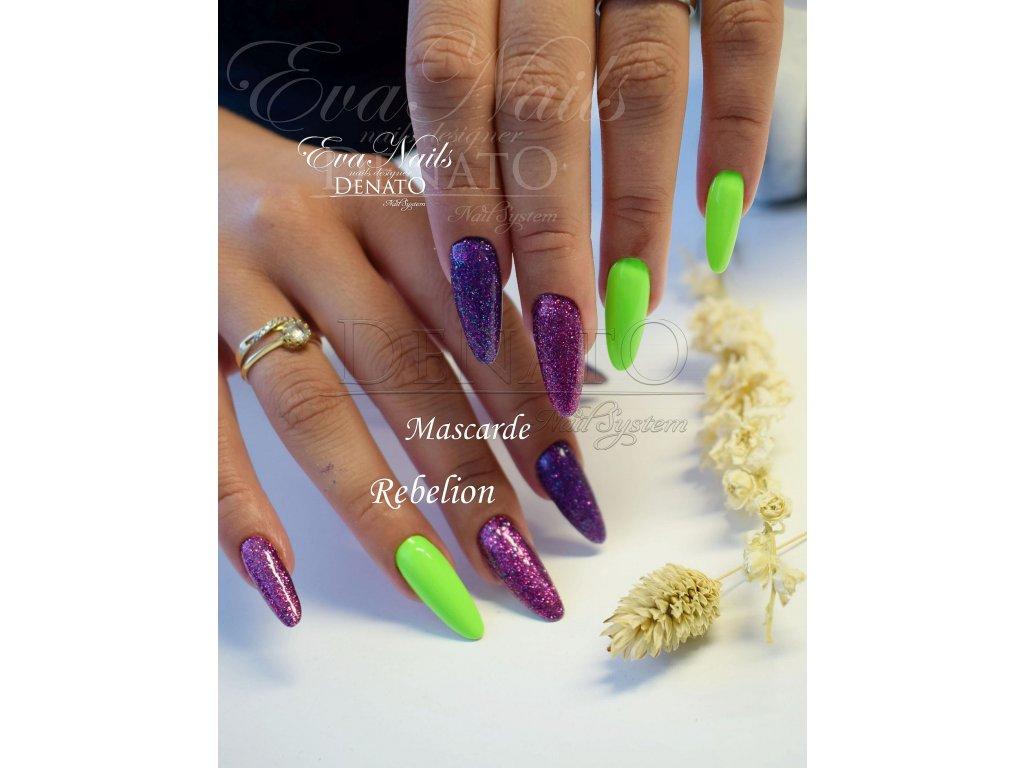 4042 Rebelion barevný glitrový uv led gel růžový