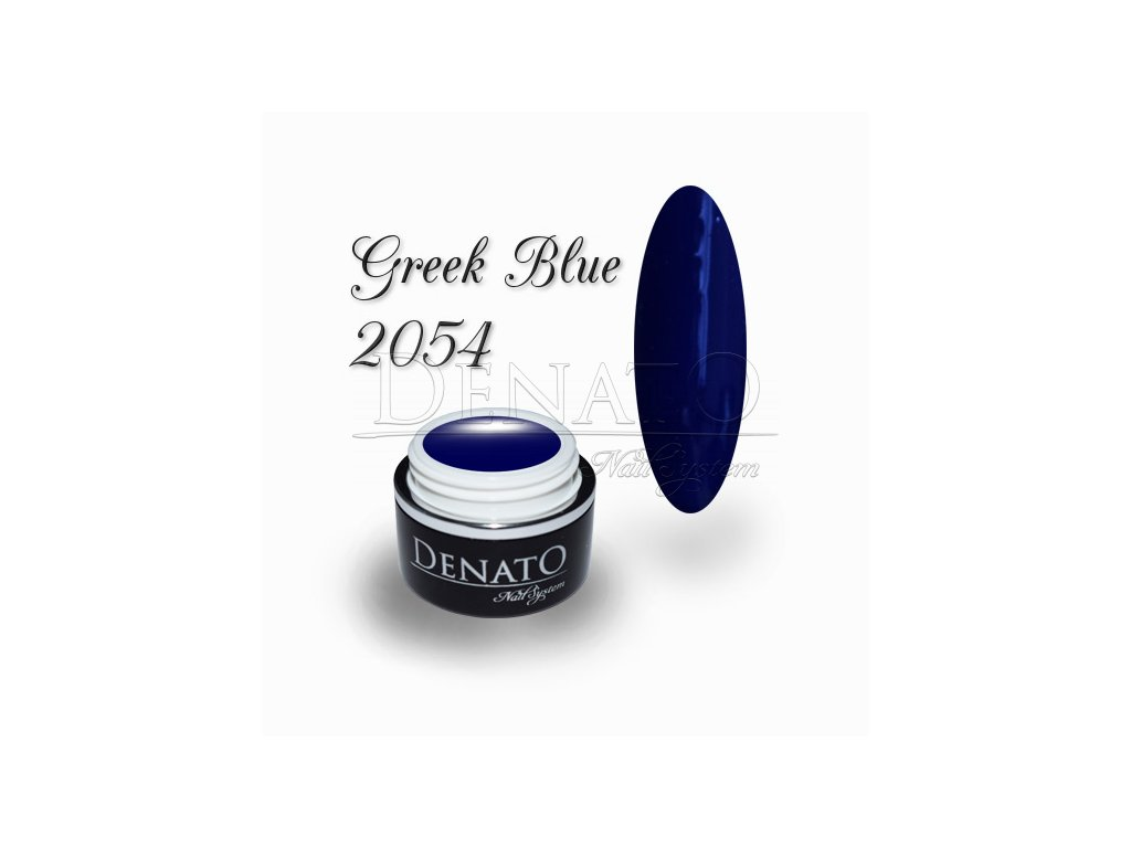 2054 Greek Blue barevný uv led gel modrý