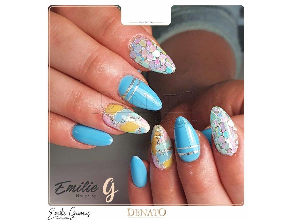 2083 Pastel Blue barevný uv led gel modrý
