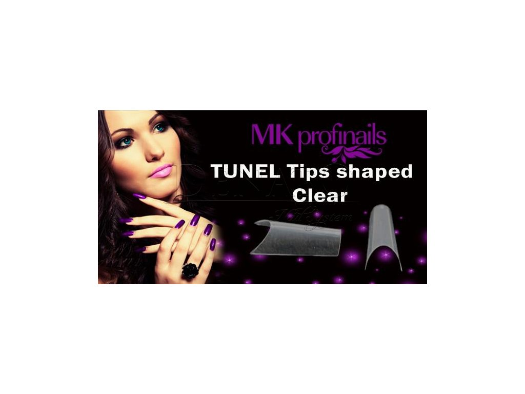 TUNEL Tips Shaped Clear  Nehtové Tipy