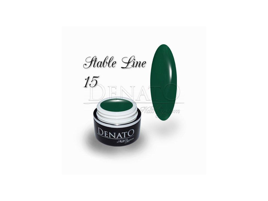 3614 STABLE Line 15 barevný bezvýpotkový uv led gel zelený