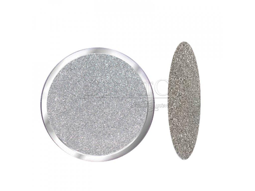 1728 Silver Star barevný polymer stříbrný glitrový