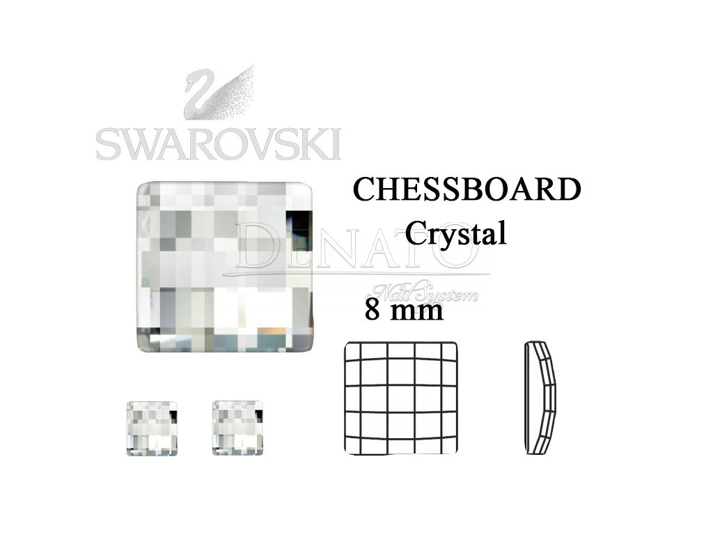 chessboard crystal 8 mm
