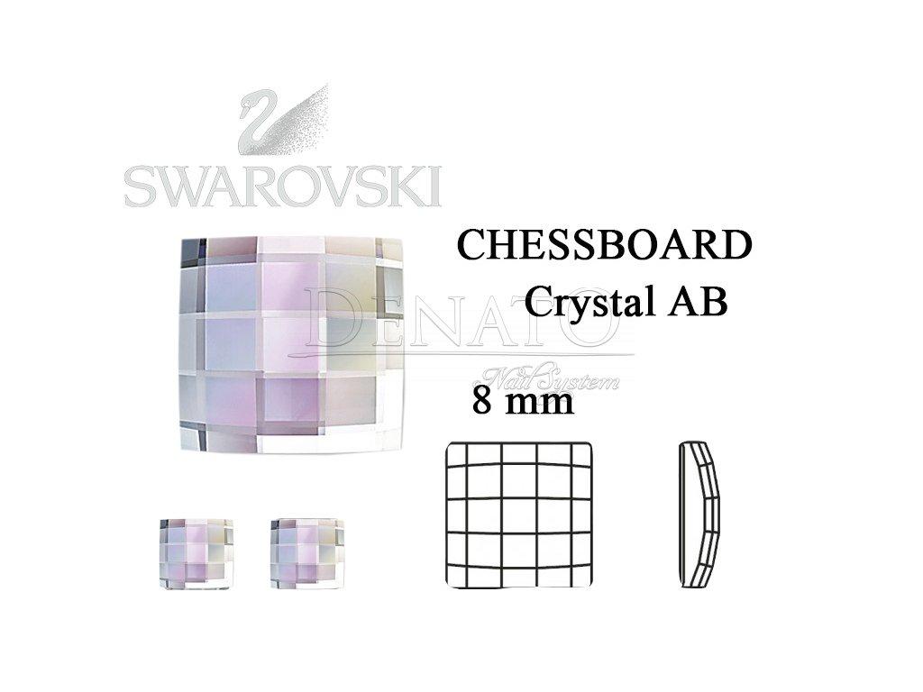 chessboard crystal AB 8 mm