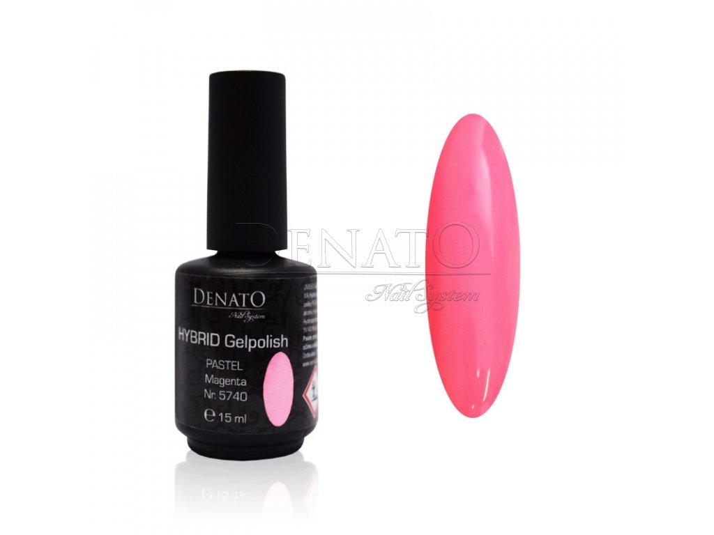 5740 Hybrid Gelpolish pastel magenta růžový uv led gel, 15 ml