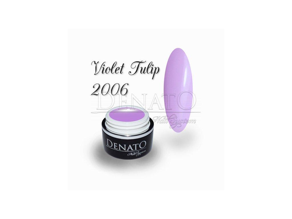 2006 Violet Tulip barevný uv led gel fialový pastelový