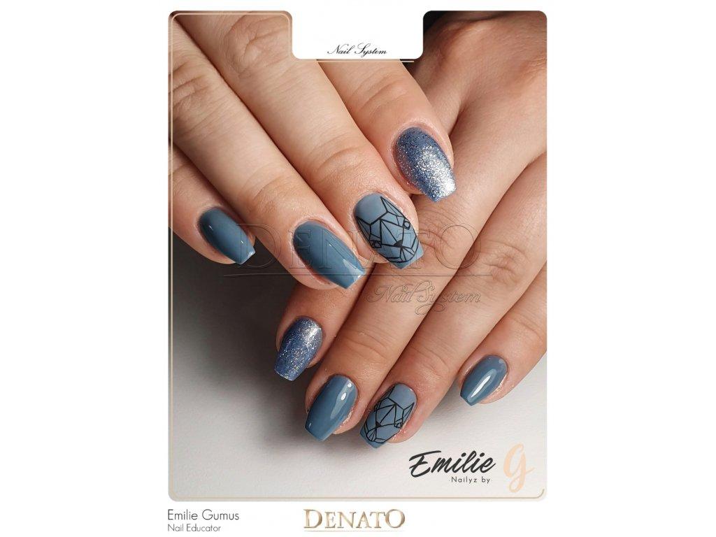 3085 Grace barevný perleťový uv led gel modrý