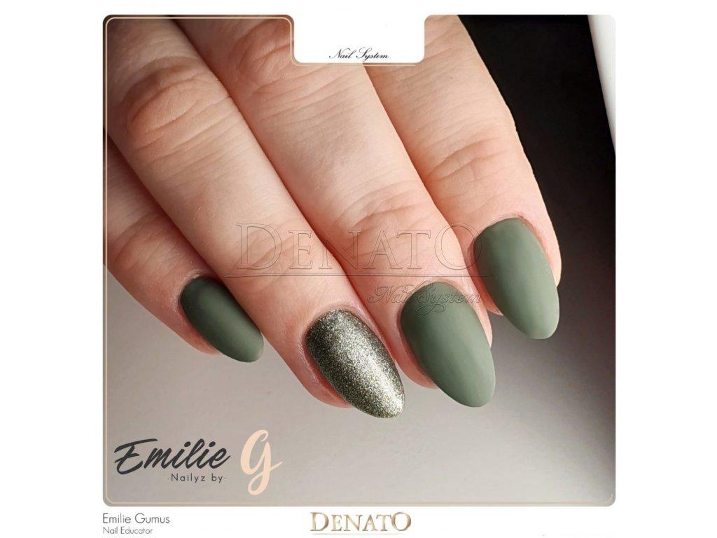3103 DUSTY Smaragd barevný perleťový UV led gel zelený