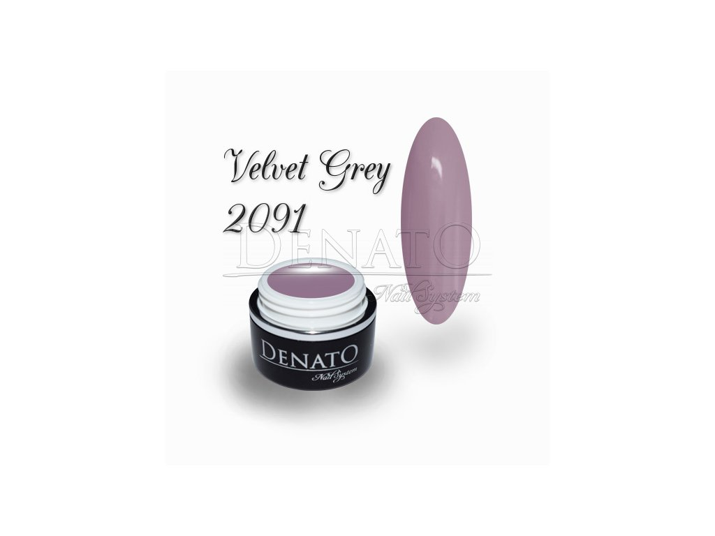 2091 Velvet Grey barevný uv led gel šedo fialový