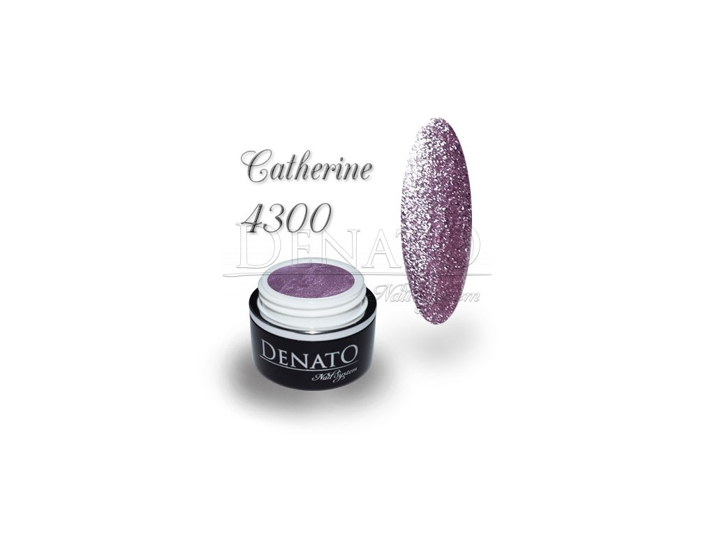 4300 Ctherine barevný uv led gel glitrový fialový