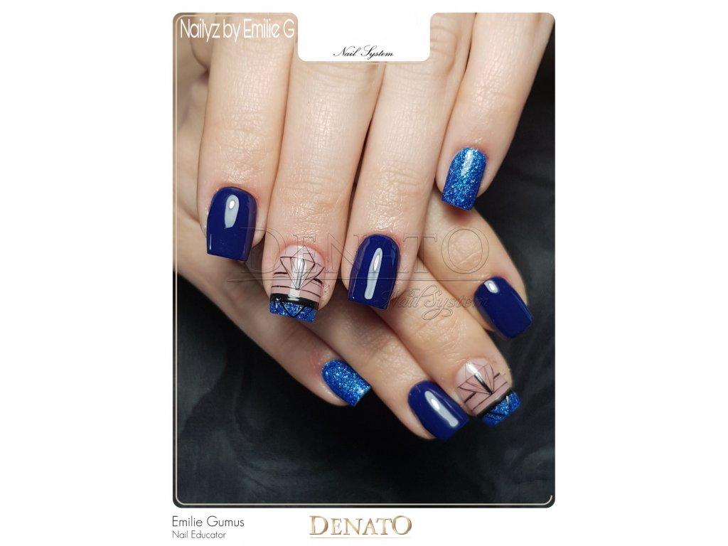 4308 barevný uv led gel modrý glitrový