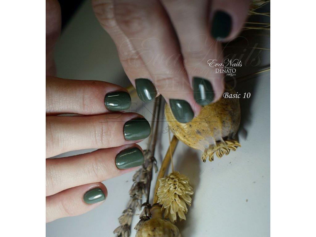 23010 Basic 10 barevný uv led gel tmavá zelená