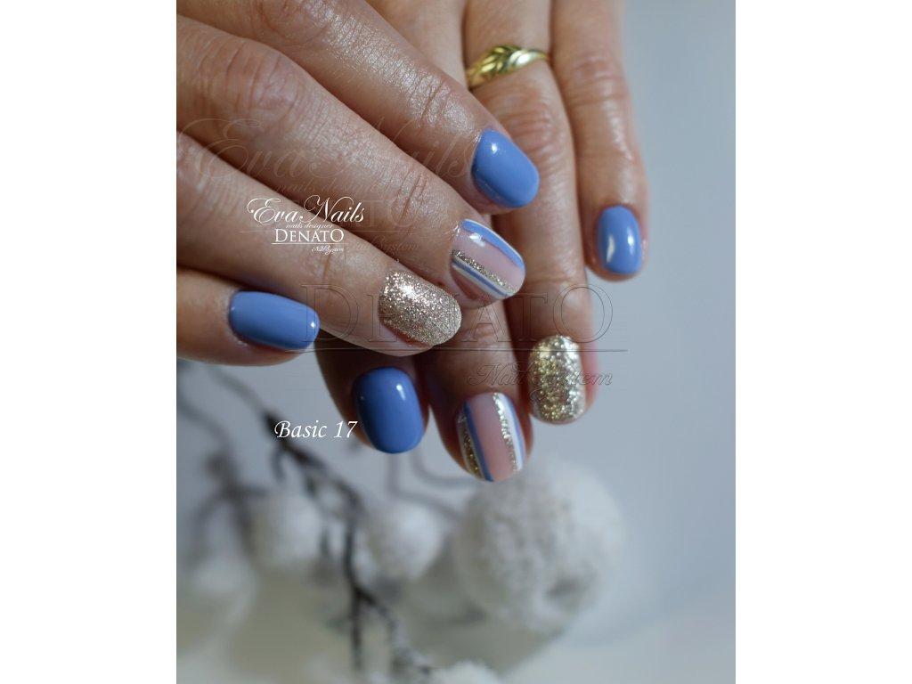 23017 Basic 17 barevný uv led gel pastelová modrá