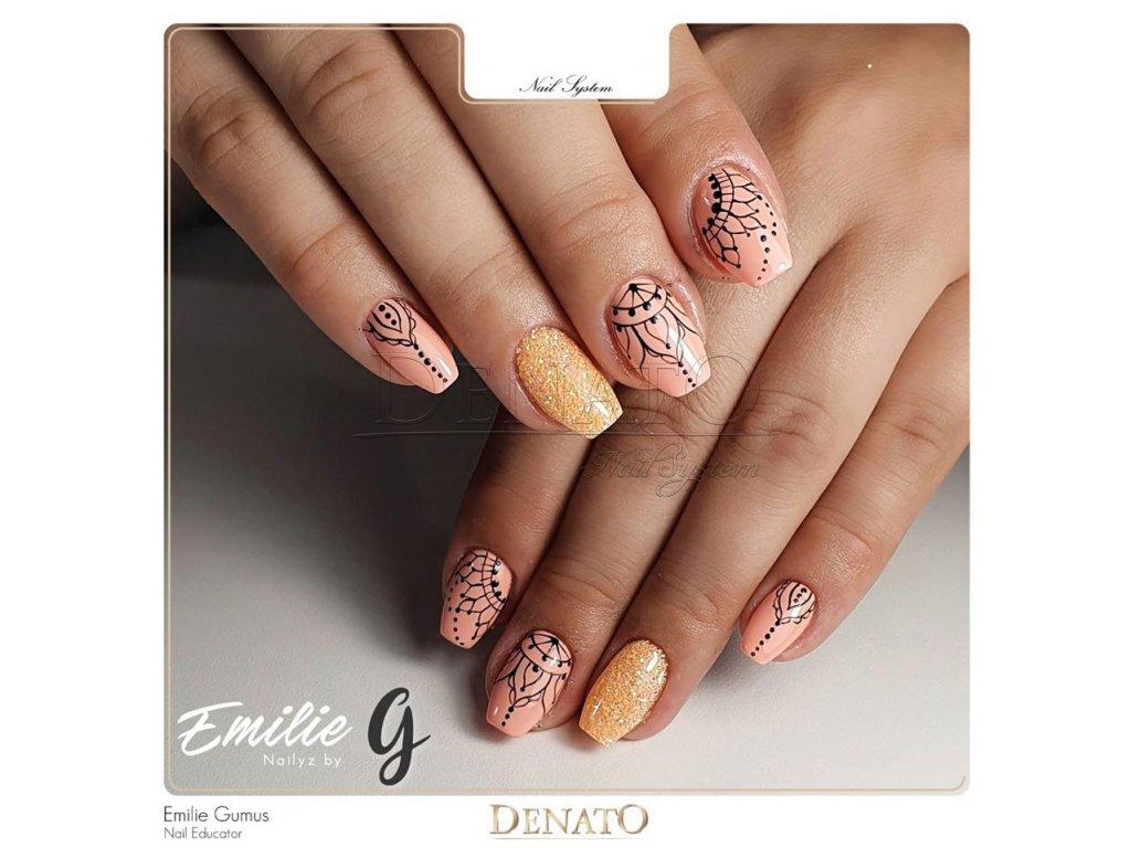 23028 Basic 28 barevný uv led gel pastelový oranžový jpg