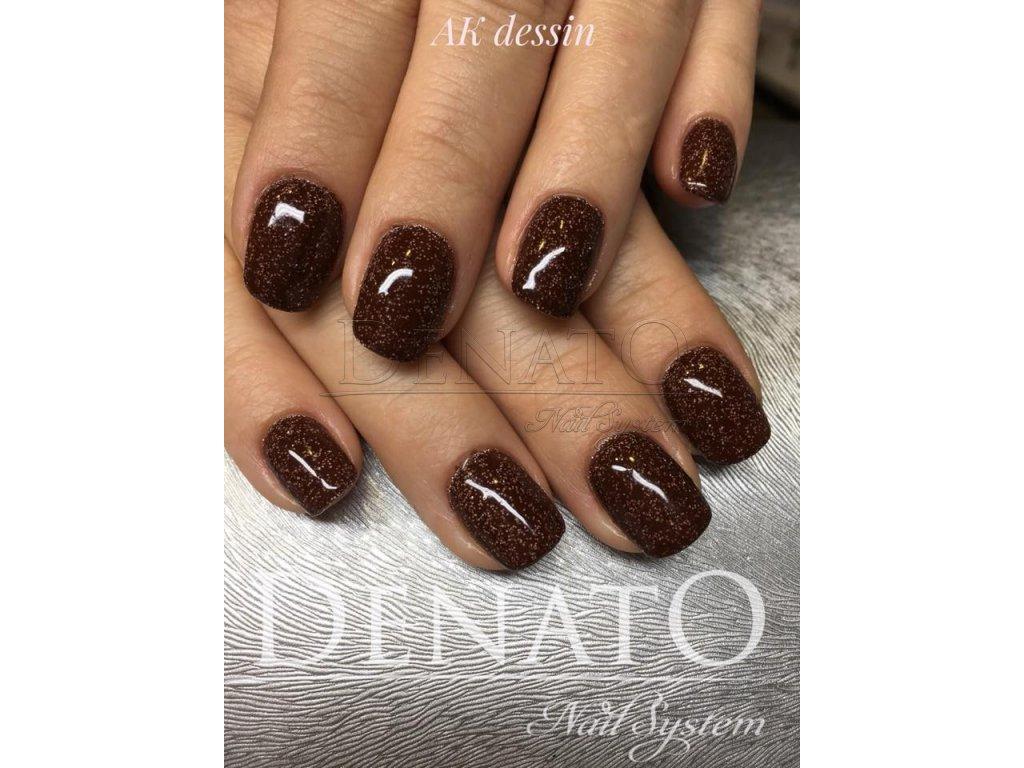 3058 Stony Brown barevný glitrový uv led gel hnědý