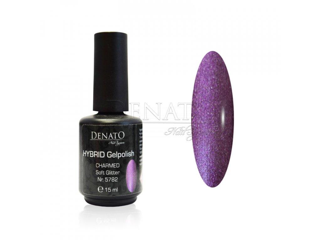 5782 Hybrid Gelpolish Charmed soft glitter fialový uv led gel, 15 ml