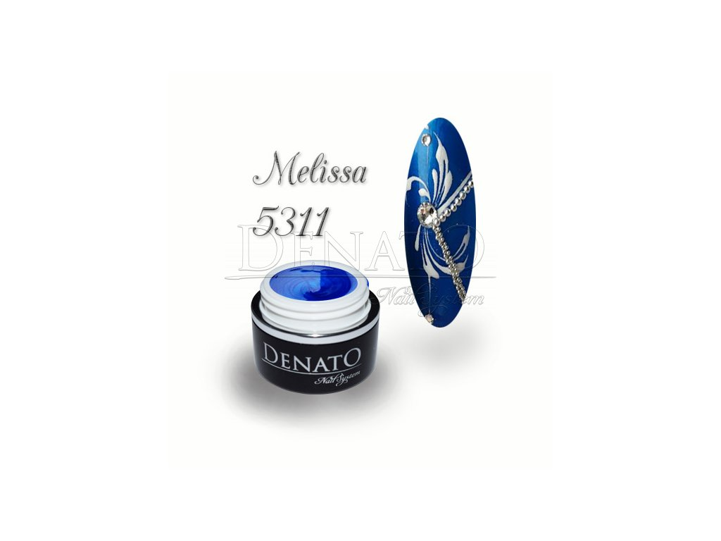 5311 Melissa barevný uv led gel modrý