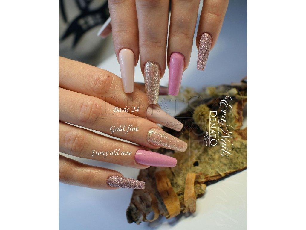 4120 Gold Fine barevný glitrový uv led gel prosecco