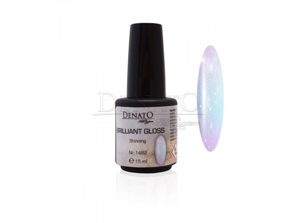 BRILLIANT Gloss Shinning vrchní UV LED lesk bezvýpotkový s pigmentem