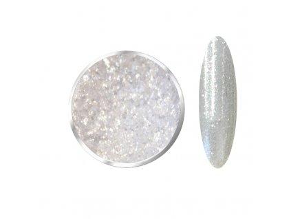 White STAR Sparkly Silver  Pigmenty