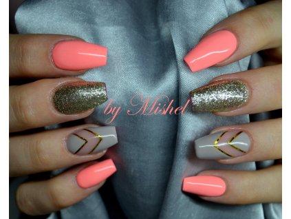 2093 Mysteious Grey barevný uv led gel nude