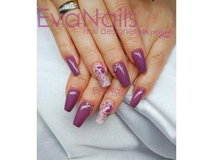 PF11 Perfect Line 11 barevný uv led gel bezvýpotkový šedo fialový