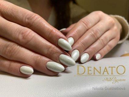 4001 Raimbow Fine barevný glitrový uv led gel bílý
