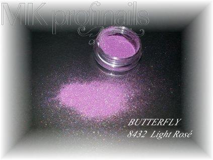 BUTTERFLY Light Rosé  Třpytky a Glitry