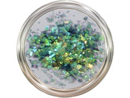 Hologram Slices Smaragd  Třpytky a Glitry