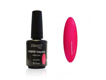 5707 Hybrid Gelpolish neon pink růžový uv led gel, 15 ml
