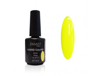 5711 Hybrid Gelpolish neon yellow žlutý uv led gel, 15 ml