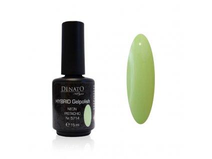 5714 Hybrid Gelpolish pistachio zelený uv led gel, 15 ml
