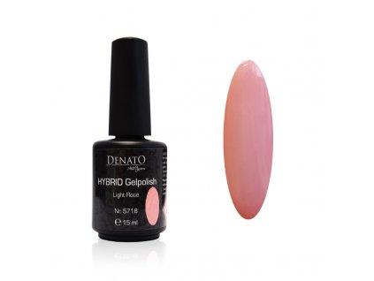 5718 Hybrid Gelpolish Light rosé, růžový uv led gel, 15 ml