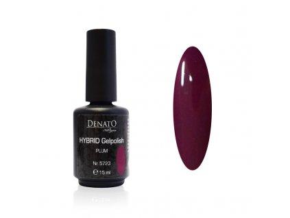 5723 Hybrid Gelpolish plum fialový uv led gel, 15 ml
