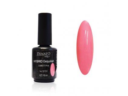 5731 Hybrid Gelpolish Sweet Pink, růžový uv led gel, 15 ml