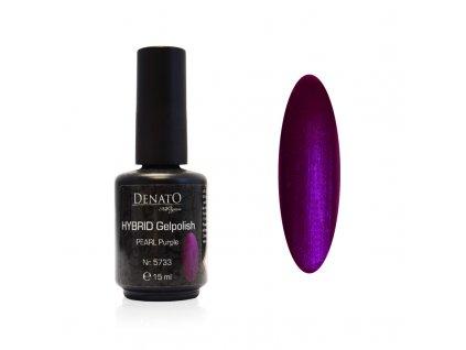 5733 Hybrid Gelpolish perl purple fialový uv led gel, 15 ml