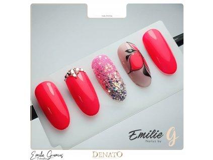 2172 Neon Sharp Pink barevný uv led gel neonový růžový