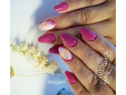 2070 Bouquet barevný uv led gel růžový