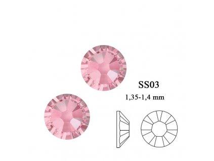 9003 Swarovski light rosé SS03