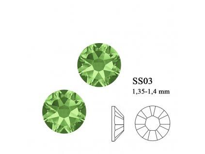 9005 SwarovskiPeridot SS03