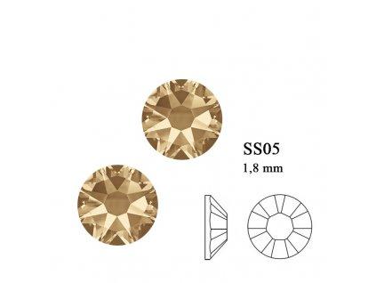 9206 Swarovski Golden Schadow SS05