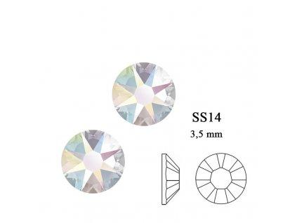 9261 Swarovski Crystal AB SS14