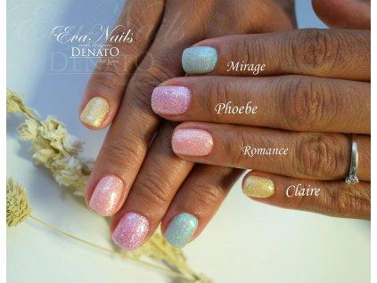 4090 Mirage barevný uv led gel glitrový efektový