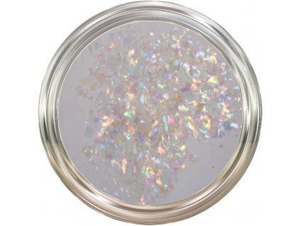 Hologram Slices Glass White  Třpytky a Glitry