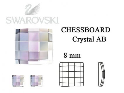 chessboard crystal AB 8 mm