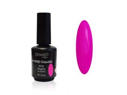 5747 Hybrid Gelpolish neon magenta, růžový uv led gel, 15 ml
