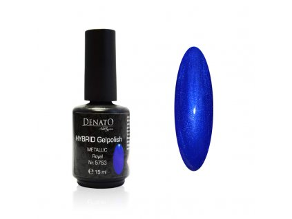 5753 Hybrid Gelpolish Metallic Royal modrý uv led gel, 15 ml
